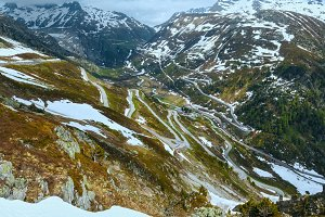 Swiss mountain roads (Grimsel Pass)