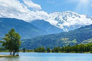 Lake Passy and Mont Blanc