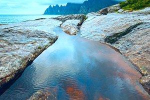 Summer Senja coast
