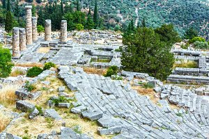 Excavations of the ancient Delphi