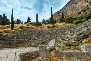 Excavations of the ancient Delphi