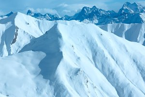 Silvretta Alps winter view (Austria)