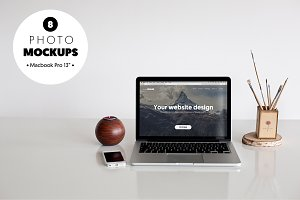 MacBook Pro - 8 photo mockups