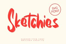 Sketchies SVG Brush Font by  in Fonts