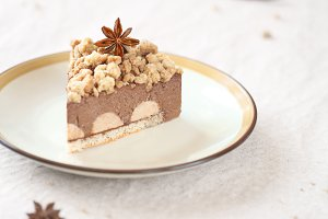 Piece of Spicy Chocolate Mousse Cake
