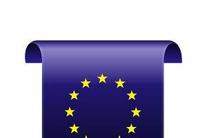 EU flag tag