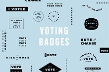 Voting Badges by  in Graphics