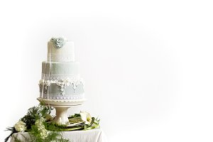 Styled Wedding Cake - Marzipan