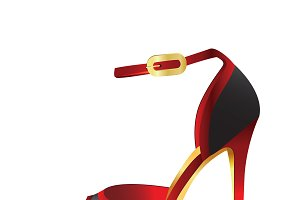 Black-red high heel
