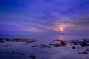 Sea Sunset with Rocks