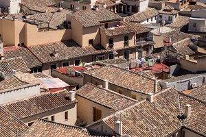 Tiled rooftops in Toledo Spain
