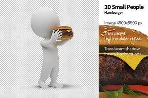3D Small People - Hamburger