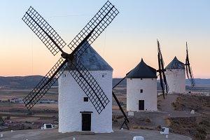 Historic windmills in La Mancha