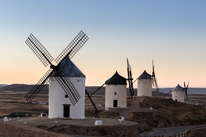 Historic Windmills at Consuegra