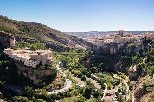 Panorama of Cuenca Spain