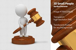 3D Small People - Auction Hammer
