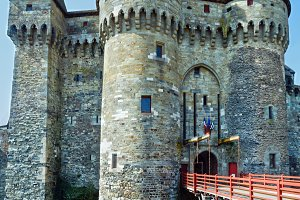 Medieval castle in the town of Vitre