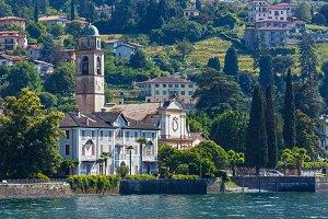Lake Como (Italy) shore view.