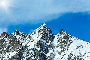 Silvretta Alps winter view (Austria)