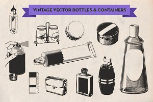 Vintage Vector Bottles & Containers