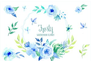 Watercolor Clipart Frosty
