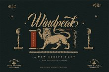 Windpeak Decorative Script by  in Fonts