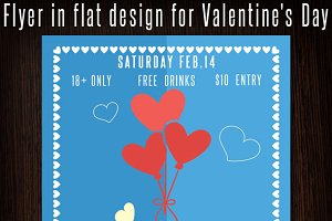 Valentine's Day Flat Flyer