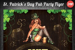 St. Patrick's Day Pub Party Flyer