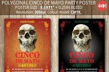Polygonal Cinco De Mayo Party Poster