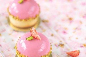 Strawberry Pistachio Mini Tarts