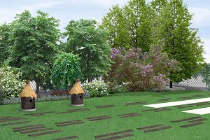 Country style landscaping
