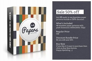48 Seamless Paper Patterns Bundle