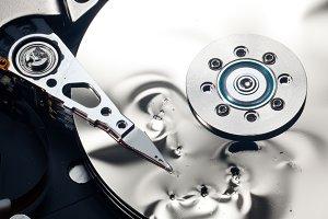 Damaged hard drive storage