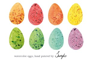 Easter Eggs , Watercolor