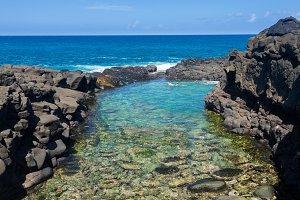 Snorkeling at Queens Bath Kauai