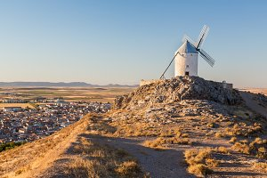 Windmill above Consuegra in Spain