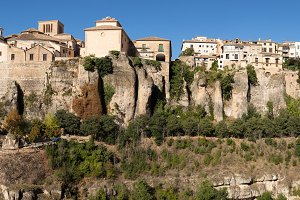 Panorama of Cuenca in Spain
