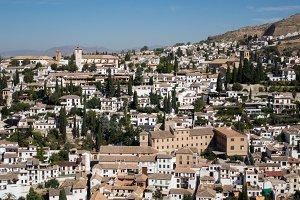Town of Granada in Spain