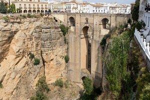 Bridge and town of Ronda in Spain