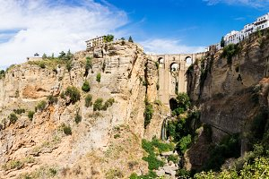 Panorama of Ronda in Spain