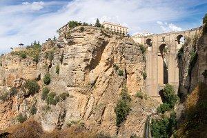 Panorama of Ronda in Spain