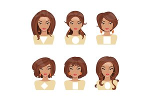Face shape. Vector Illustration