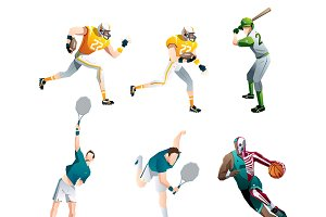 sport people set