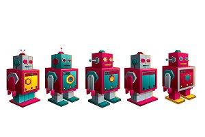 robots vintage retro toy