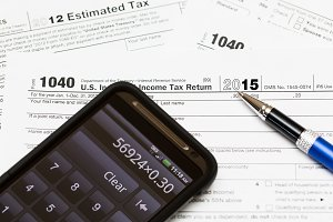 Form 1040 for tax in 2015
