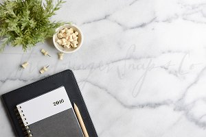 2016 Planner on Marble
