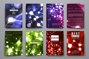 Brochures in neon molecule structure