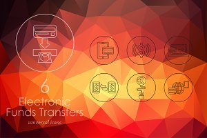 6 Electronic Funds Transfers icons
