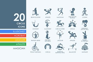 20 Circus icons