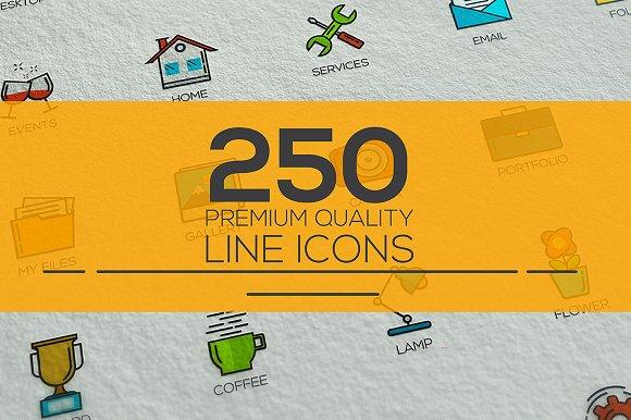 Set of modern Color Line Design icon